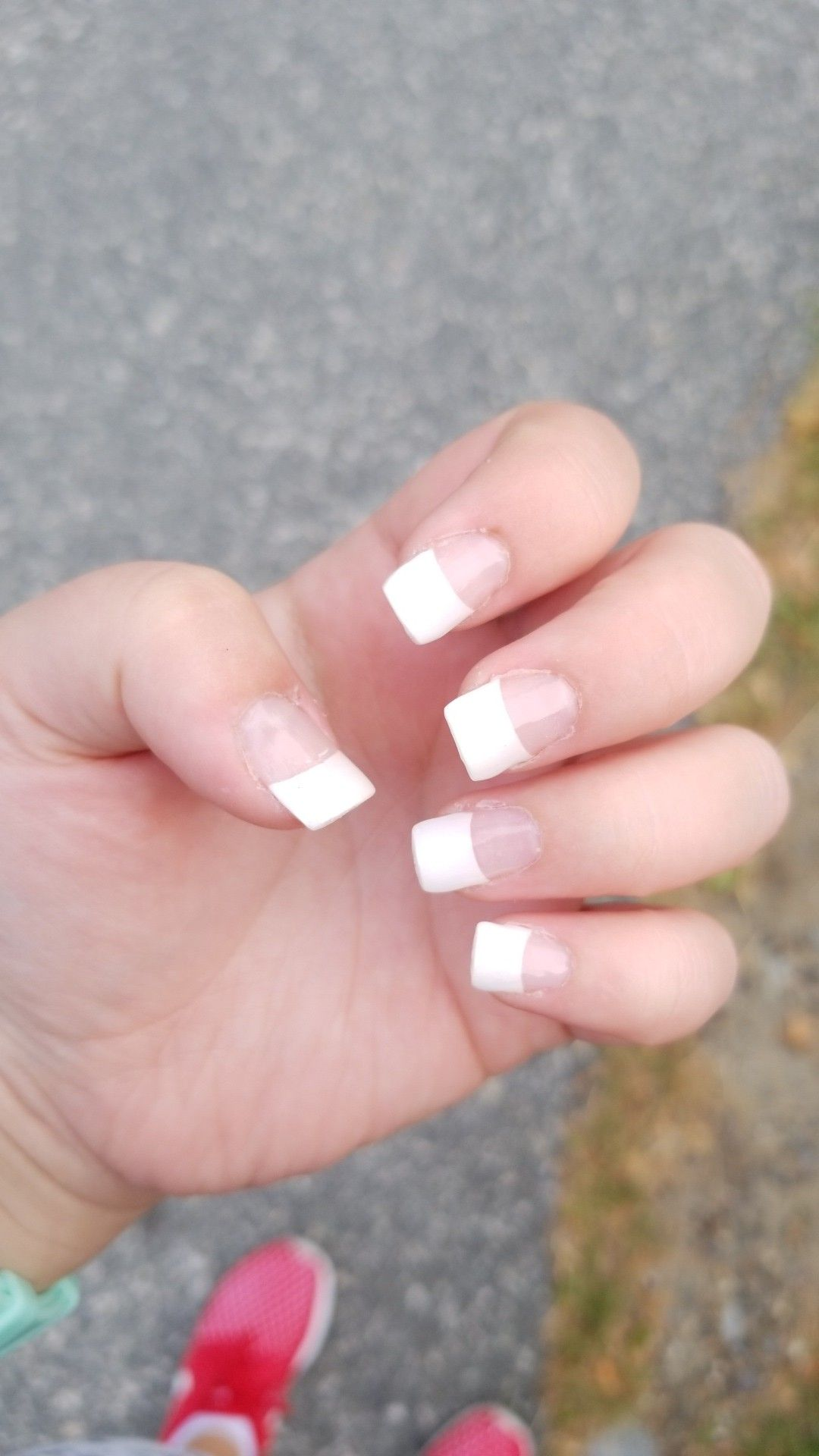 I Used The Kiss Salon Dip Kit And I Used The French Tips That Came