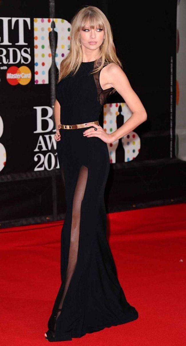 taylor swift レッドカーペットドレス ドレス 黒 ゴージャスなドレス