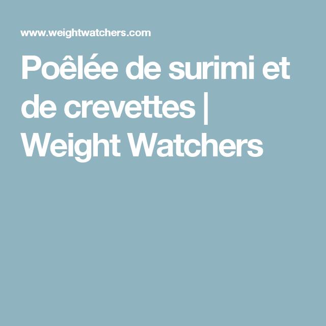 Poêlée de surimi et de crevettes | Weight Watchers