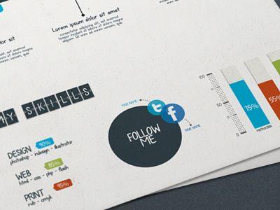 Resume Time by Agence Me (via Barthélémy Chalvet) graphic design - resume me