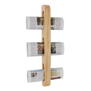 Olympia Wooden Magazine Rack 605x70x45mm Wall Mounted Newspaper Holder Ebay