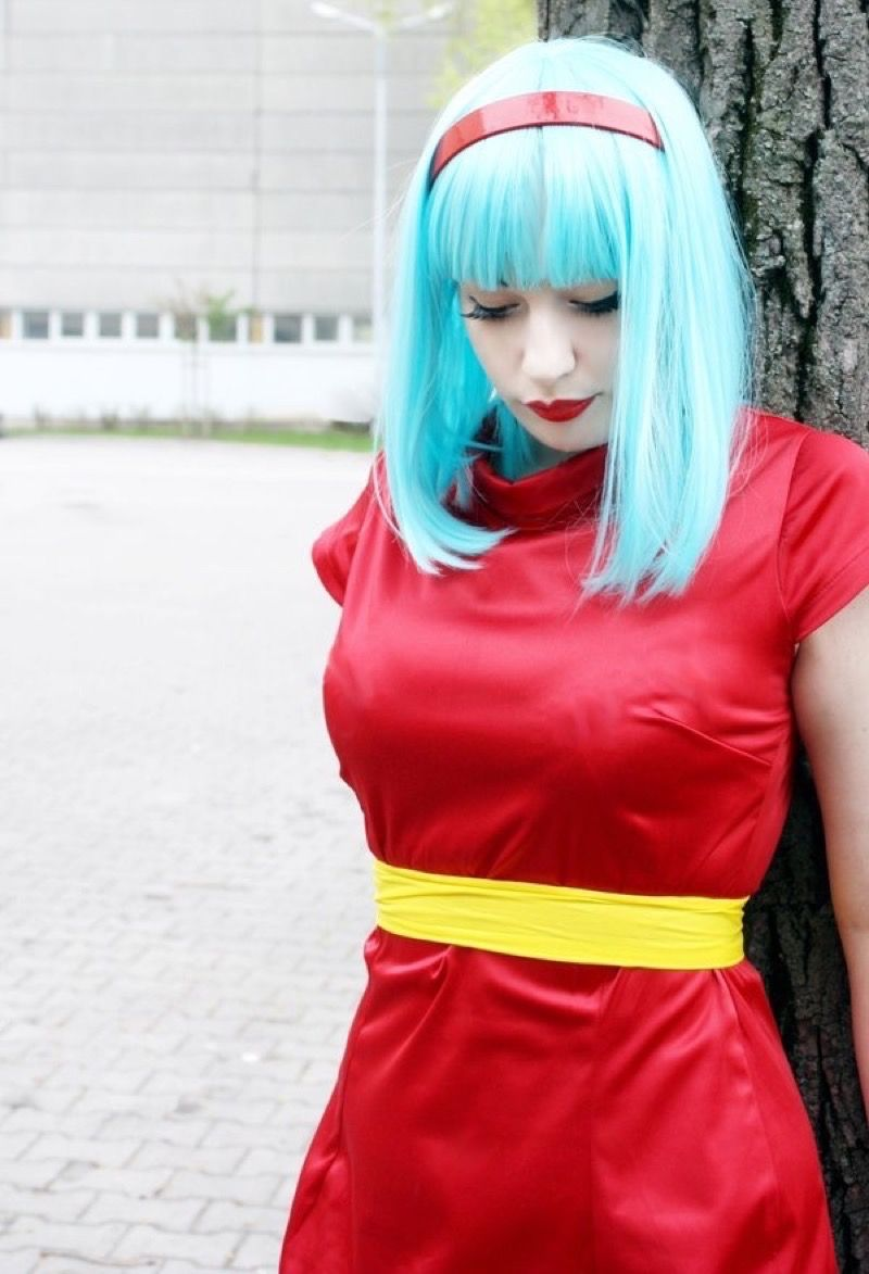 308748a8d Image result for bulma red dress cosplay | Dragonball | Bulma ...