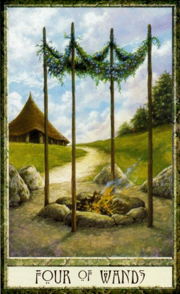 druidcraft tarot four of wands - Pesquisa Google