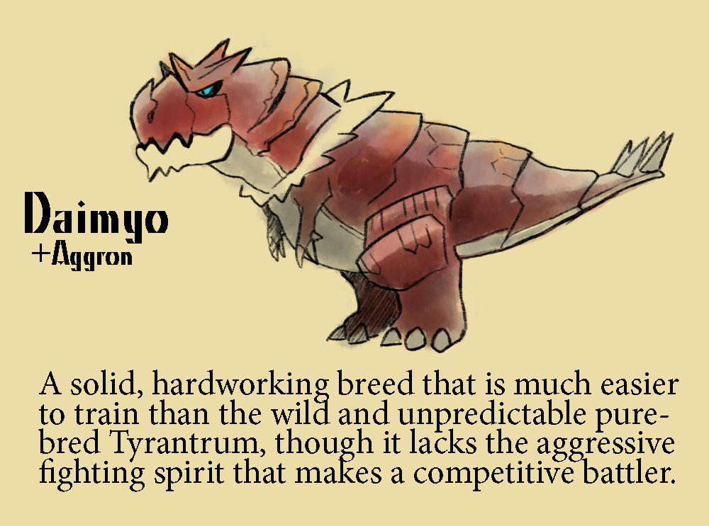 I've been wanting to do one of these for Tyrantrum... - Citysaurus
