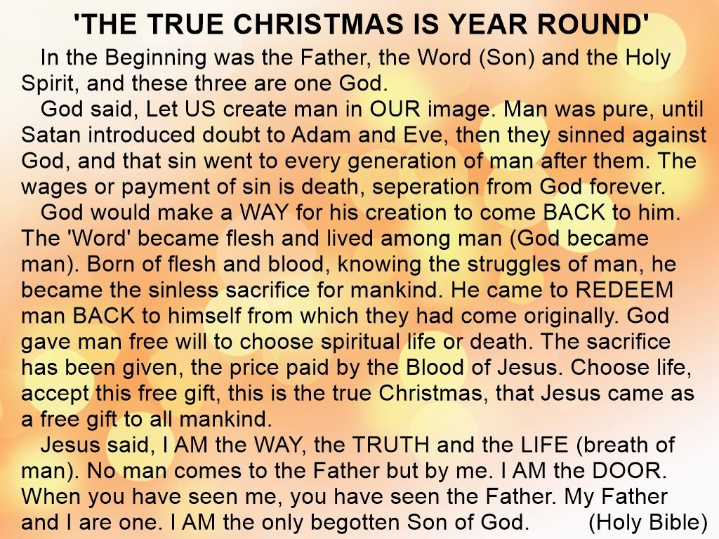'The True Christmas Is Year Round' Inspirational words