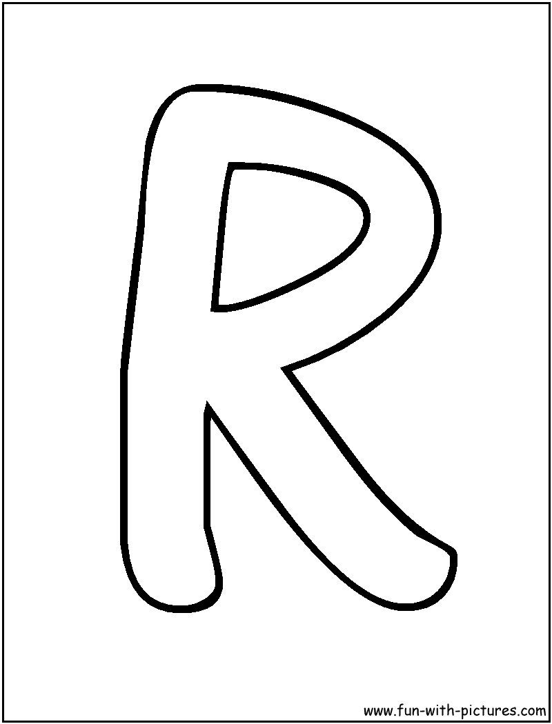 bubble letters r coloring page | alphabet | pinterest | bubble