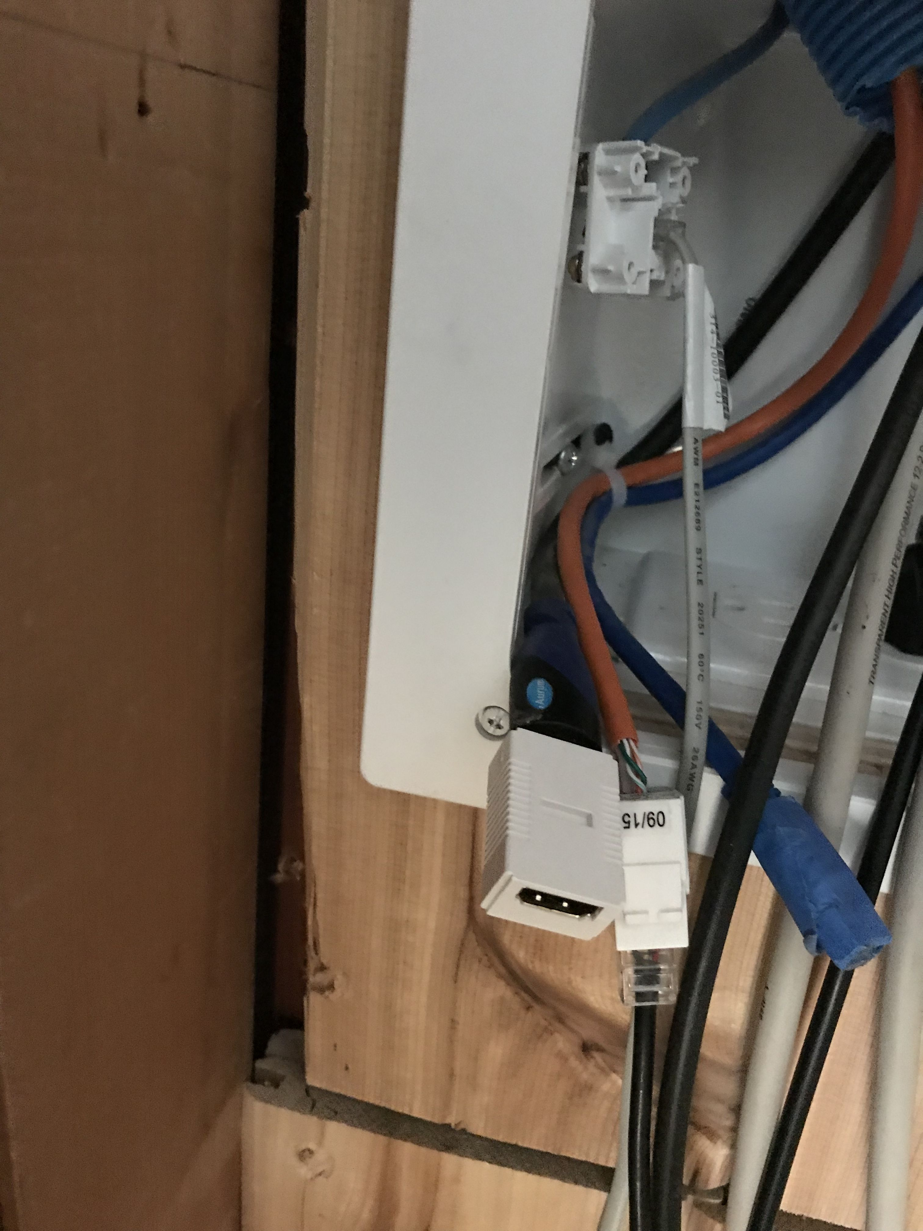 Super Damaged Brand New Cedar Wall Cutting Hole For Electrical Box Need Wiring Cloud Inamadienstapotheekhoekschewaardnl