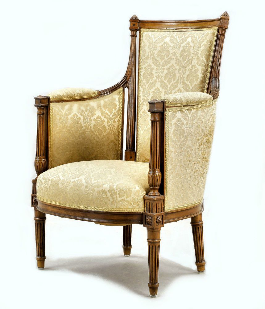 bergere louis xvi 1780 frankreich gest gontat barock. Black Bedroom Furniture Sets. Home Design Ideas