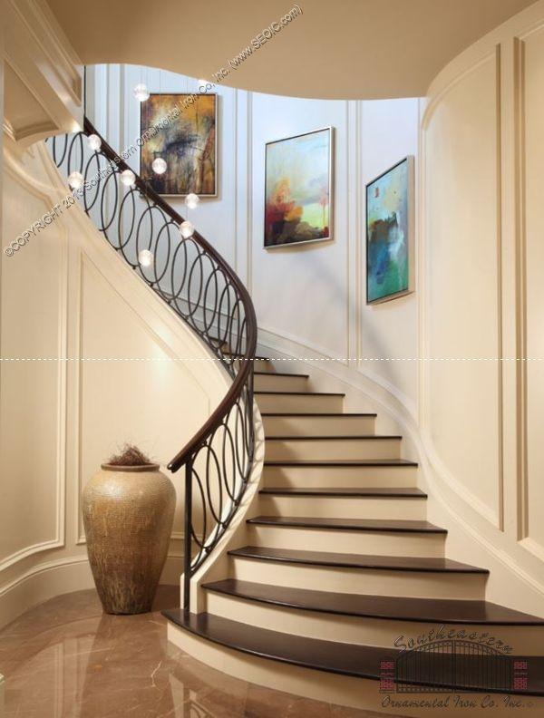 Best Wrought Iron Stair Railing Southeastern Ornamental Iron 400 x 300