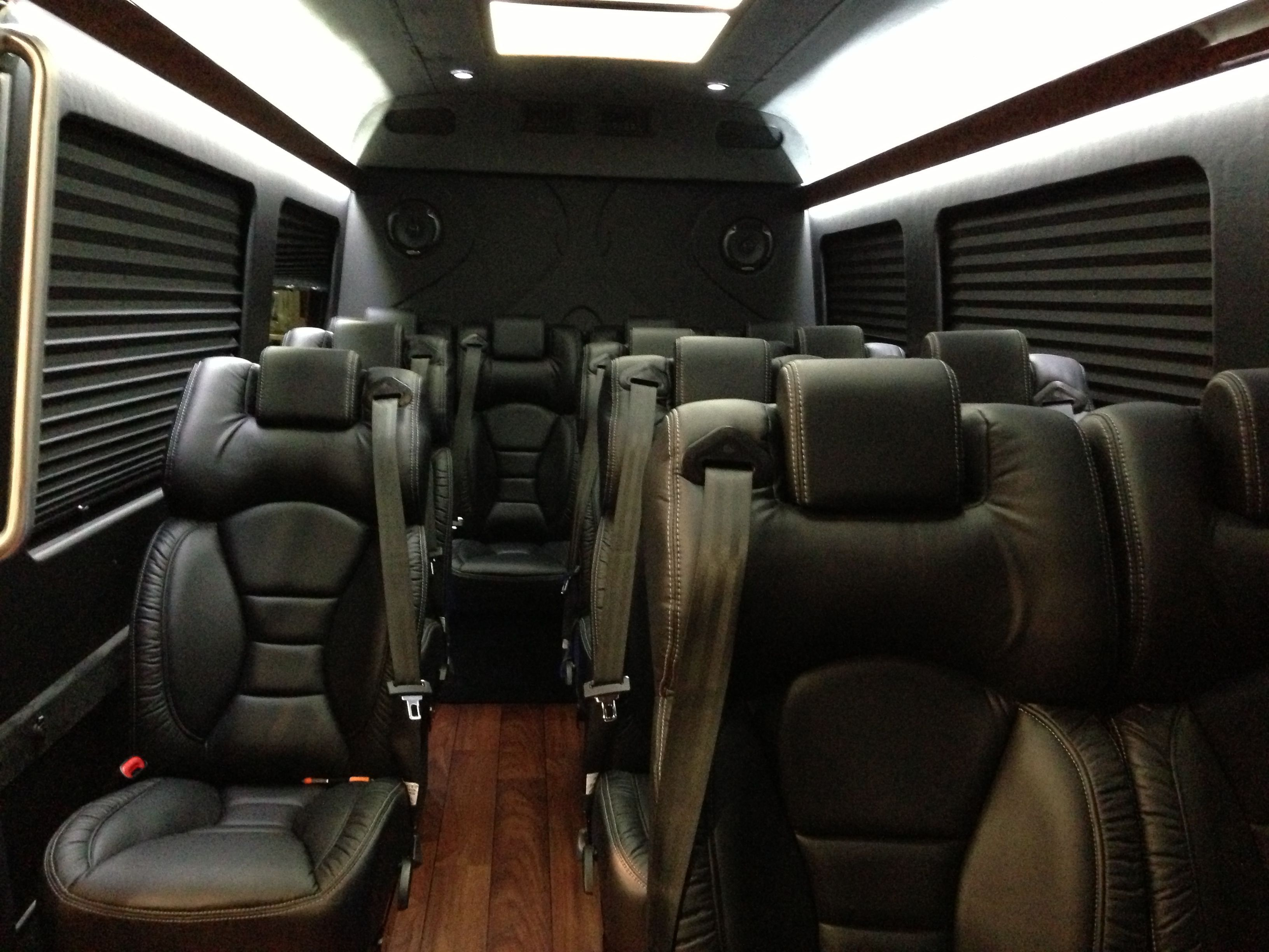 Mercedes Sprinter Mini Bus Interior