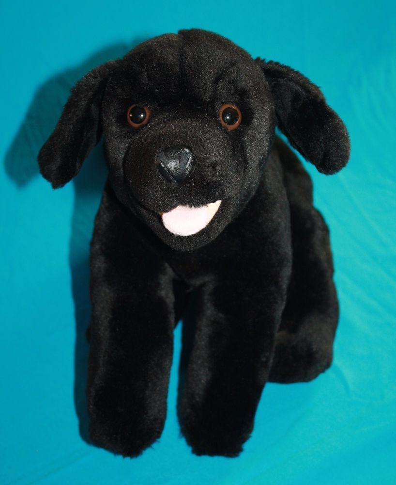 Kids Preferred Black Lab Puppy Dog Labrador Retriever Plush Soft Toy