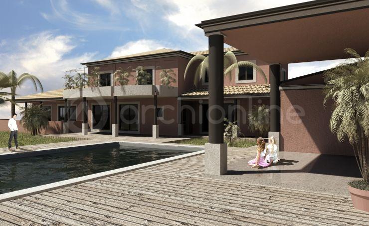 Maison Chauvin - Plan de maison Moderne par Archionline plans - Plan De Maison Moderne