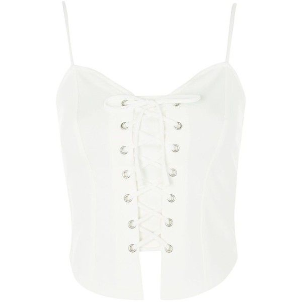TopShop Corset Camisole Top ($40) ❤ liked on Polyvore featuring intimates, camis, cream, cream camisole, corset camisole, corset cami, topshop cami and cream corset