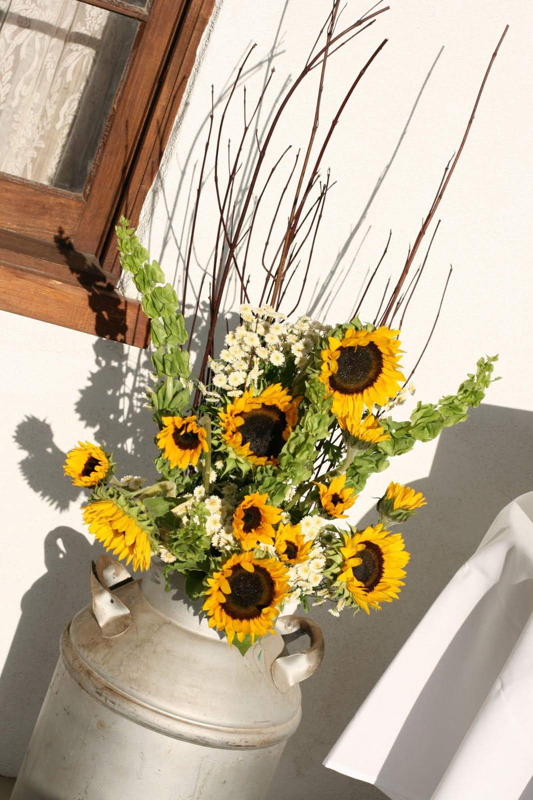 August wedding sunflowers or daisies perfection for a country