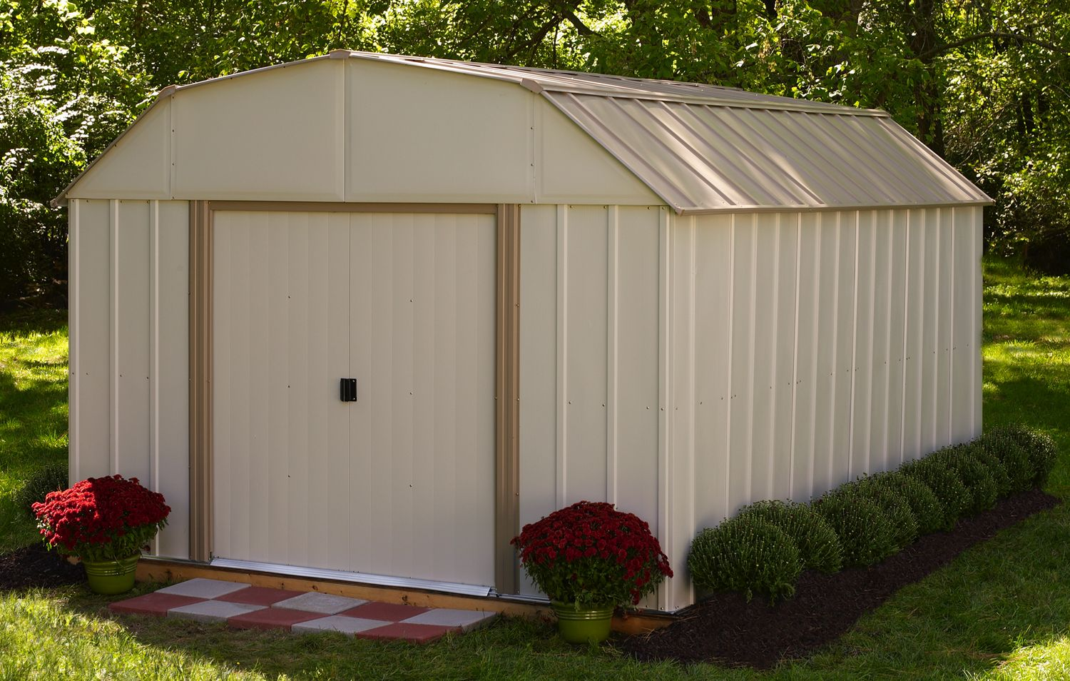 Lx1014 Lexington Barn Style Roof Garden Shed Http Www Arrowsheds Com Standardsheds Lexington Lx1014 Html With Images Steel Sheds 10x10 Shed Plans Shed Plans