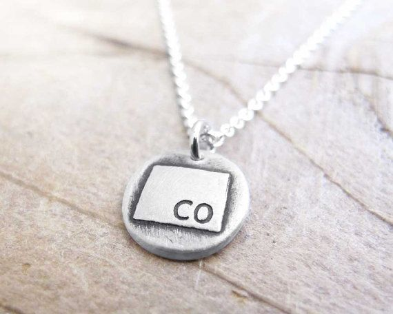 Tiny colorado necklace silver state charm necklace colorado tiny colorado necklace silver state jewelry by lulubugjewelry on etsy absolutely in love aloadofball Images