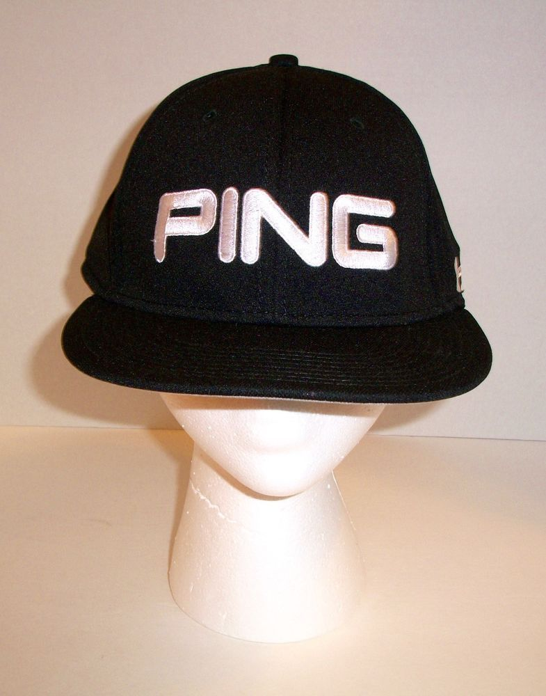 a77fa7700aa Ping Hunter Mahan Under Armour Fitted Golf Cap Black 7 1 8 Flat Bill Hat   UA304  Ping  BaseballCap