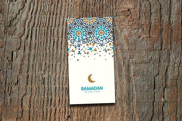 Ramadan Mubarak Greeting Card Eid Mubarak Greeting Cards Greeting Cards Greeting Card Template
