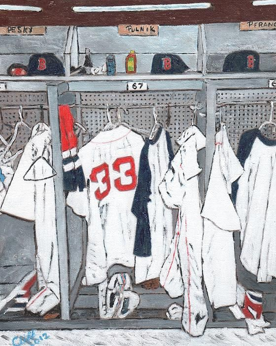 Behind the scenes of baseball, the locker is the home away from home. Find us on Facebook at https://www.facebook.com/pages/Walkabout-Art/502553026431174
