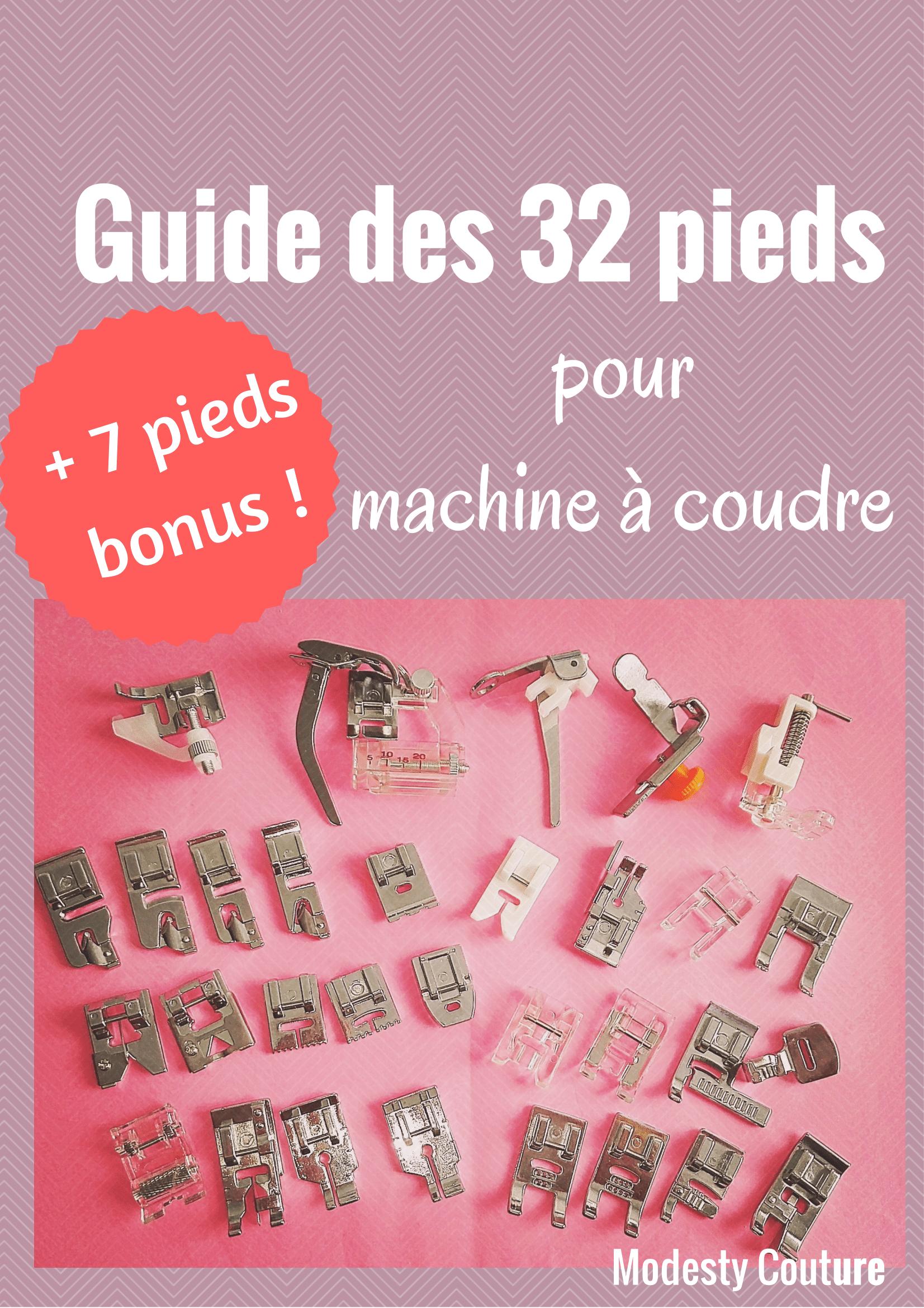 Un Memo A Telecharger Des 32 Pieds Presseurs Pour Machine A Coudre 7 En Bonus Coudre Machine A Coudre Projets De Couture Debutants
