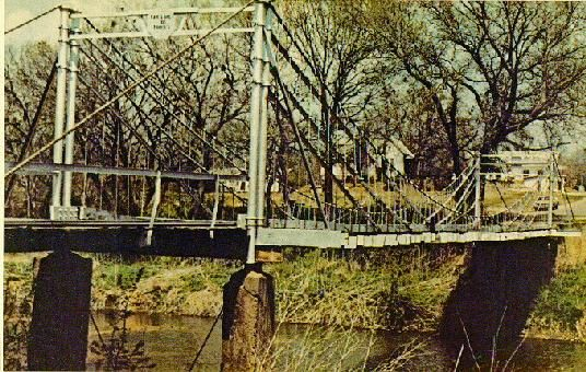 The Old Swinging Bridge A Landmark In Tishomingo Oklahoma Washed Away By Floodwaters Miss It Still