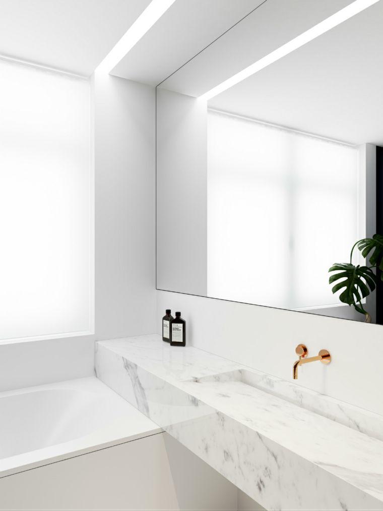 Espejos de baño grandes para decorar el interior | Espejos de baño ...