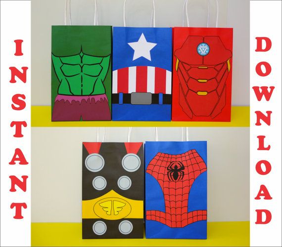 Marvel Spiderman Goodie bags Goody Bags Gift Bags Party Favor Bags