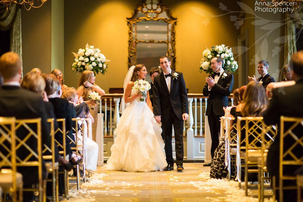 Wedding Dress Ceremony At Piedmont Driving Club