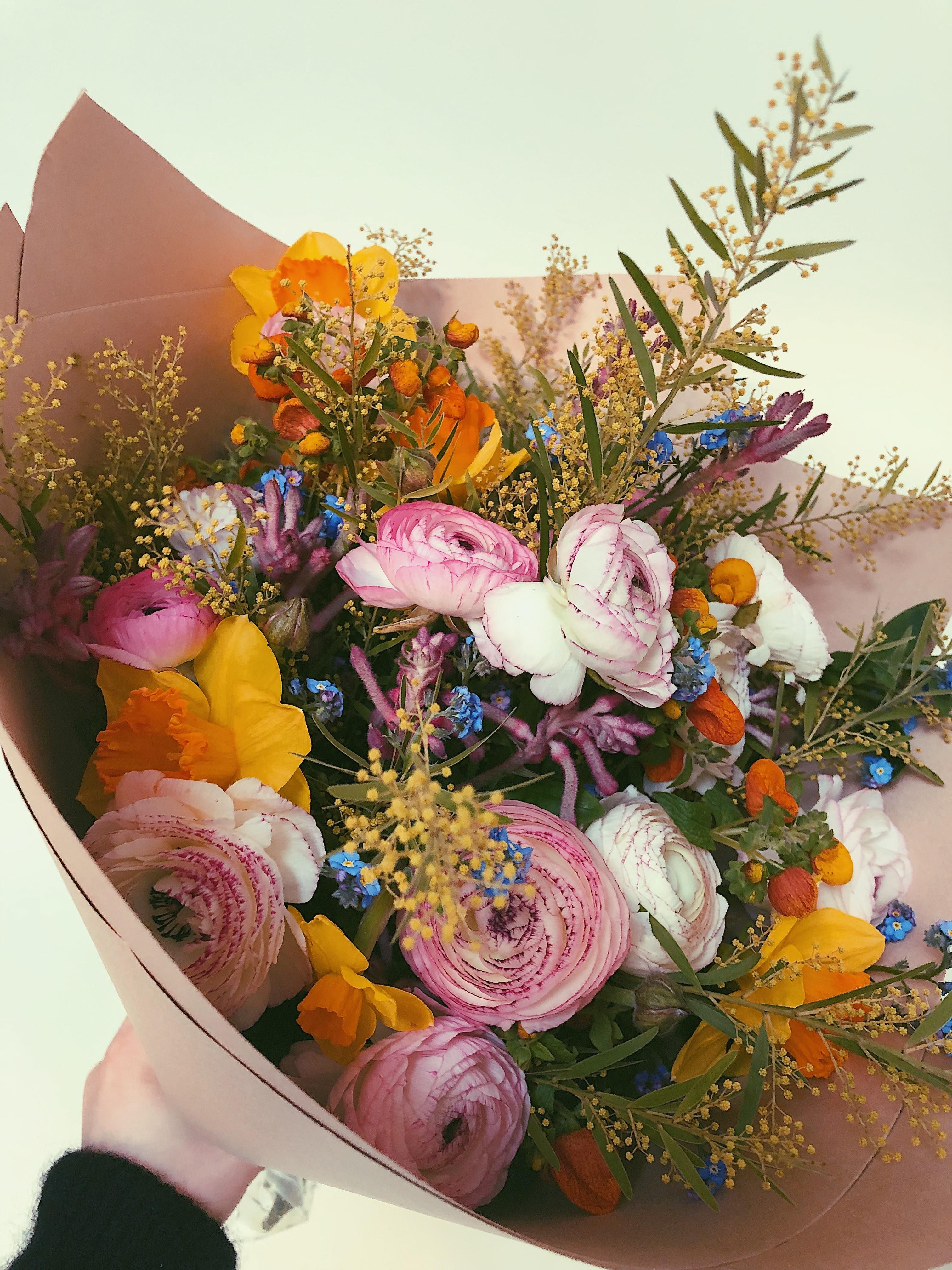 Spring handtied bouquet in 2020 Flower subscription
