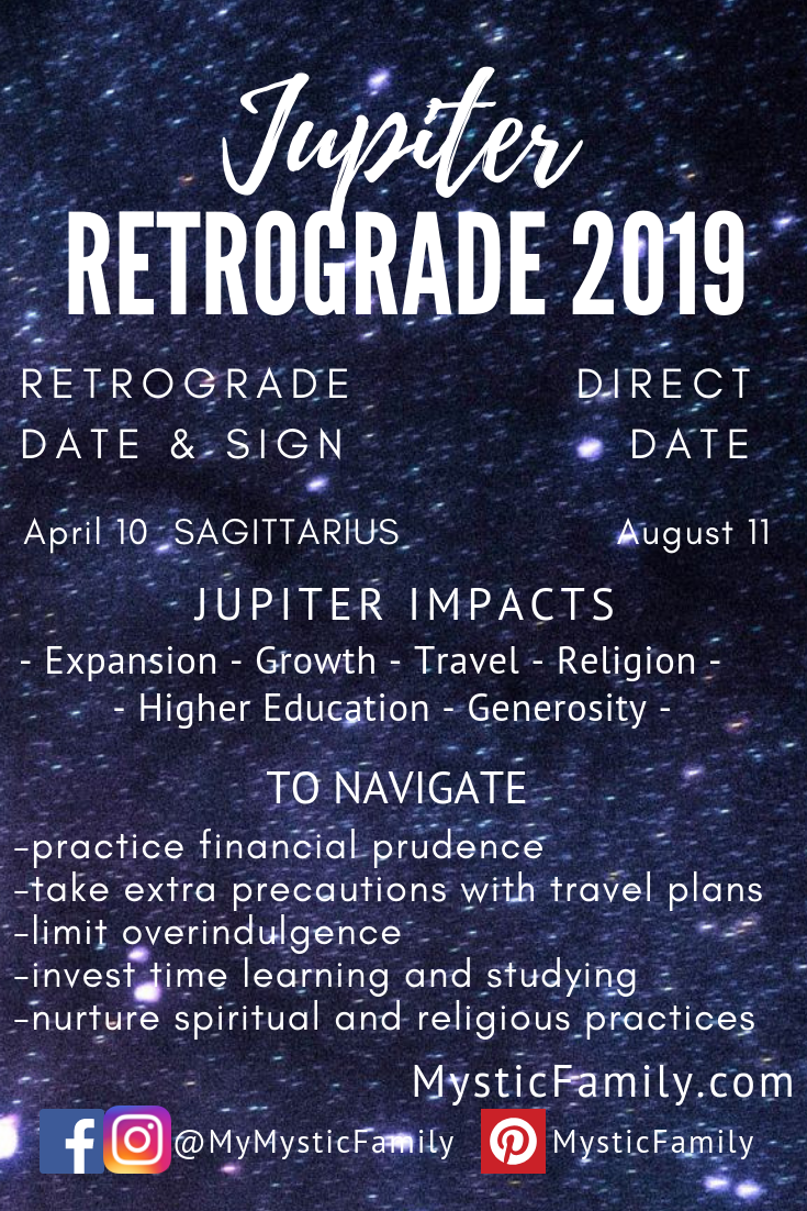 Jupiter Retrograde 2019 | The Outer Planets in the Zodiac Signs