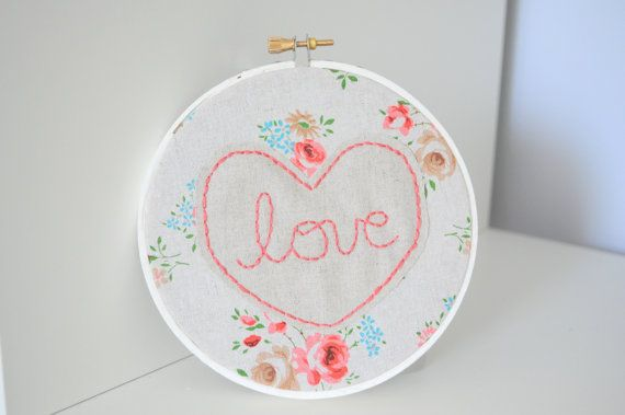 $21 love floral embroidery