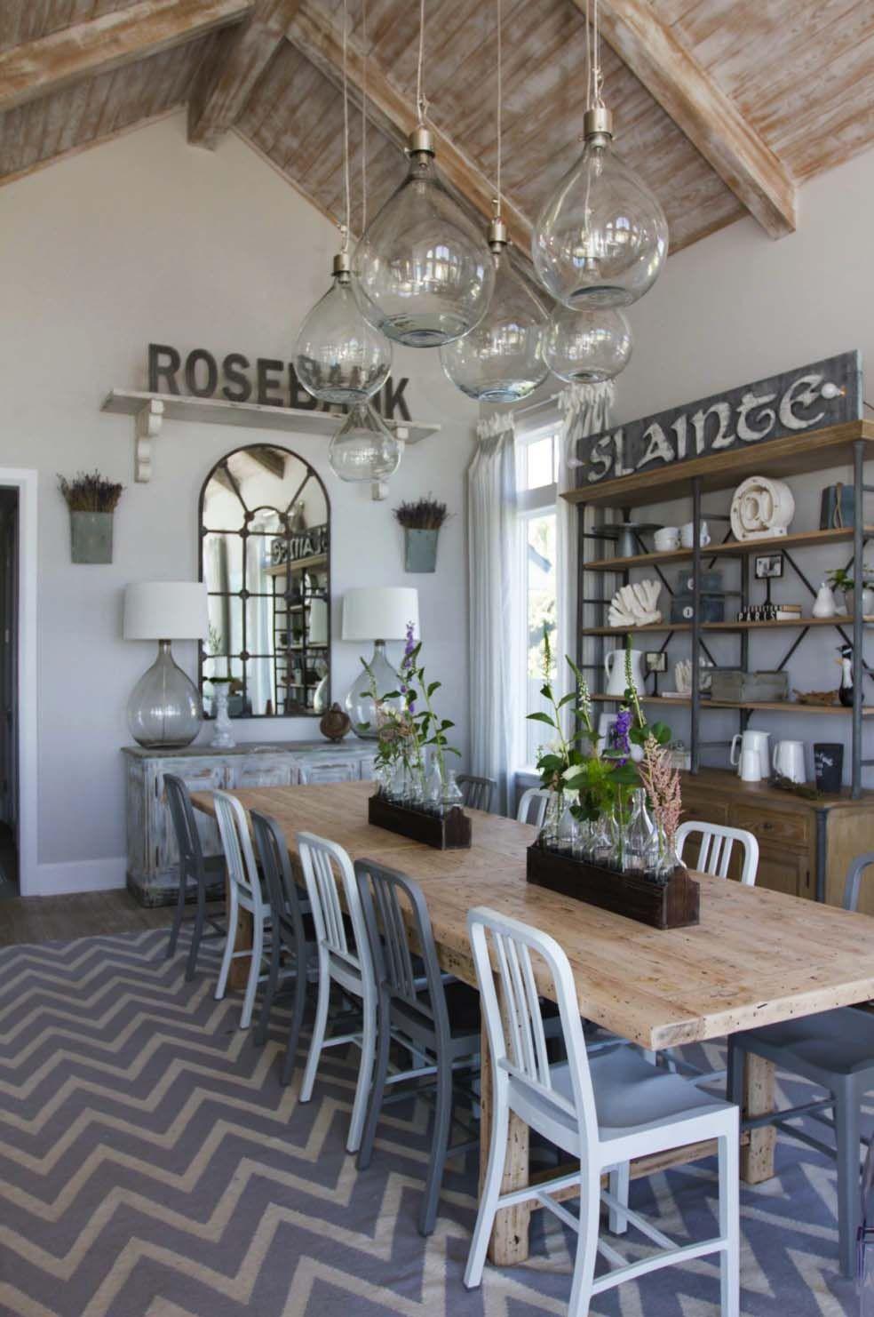 Coastal Chic Shingle Style Gambrel Home In Sunny Florida Modern Dining RoomsCoastal