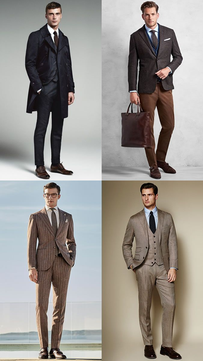 61b49ea6bc Men s Brown Suits Outfit Inspiration Lookbook