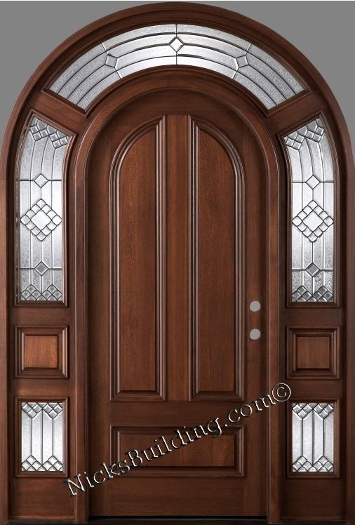 The Mega Mahogany 3003 Roundtop Door Entrance Main Door Design Arched Doors Door Design