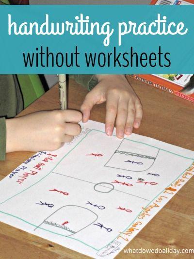 Handwriting Practice Kid Made Cards Kids Handwriting Practice