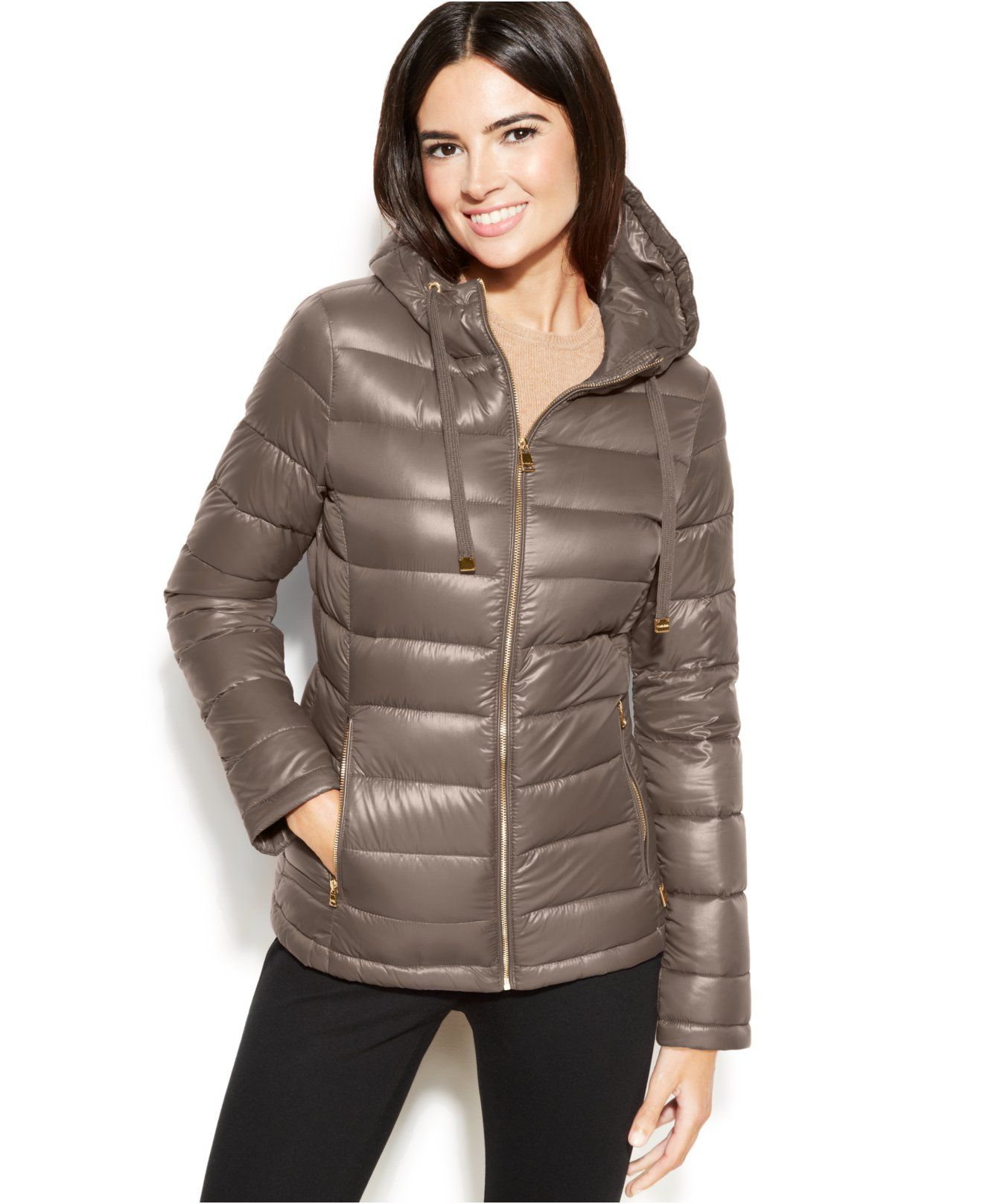 4ad2484d7a74 Calvin Klein Hooded Quilted Packable Down Puffer Coat - Coats - Women -  Macy's $84