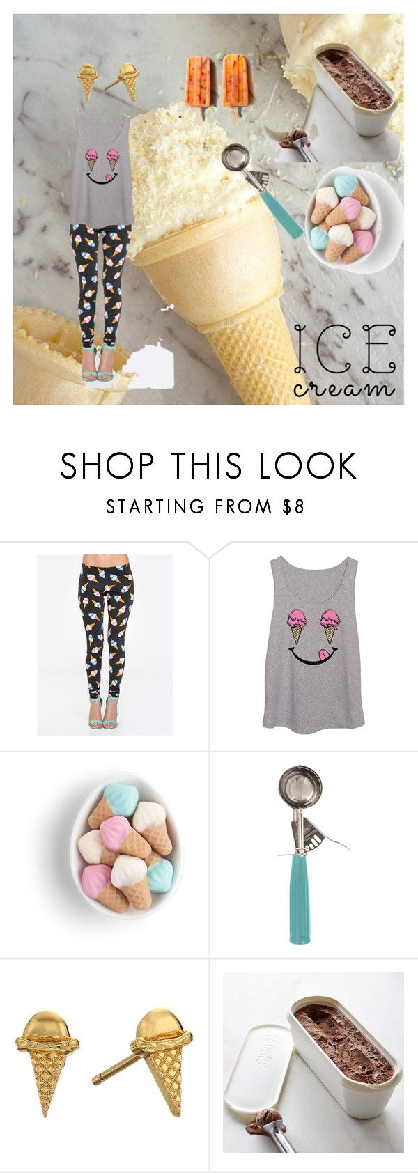 """""""Less talk, more icecream"""" by emmytwo ❤ liked on Polyvore featuring interior, interiors, interior design, home, home decor, interior decorating, ZooShoo, Parlor, Gorjana and Williams-Sonoma"""