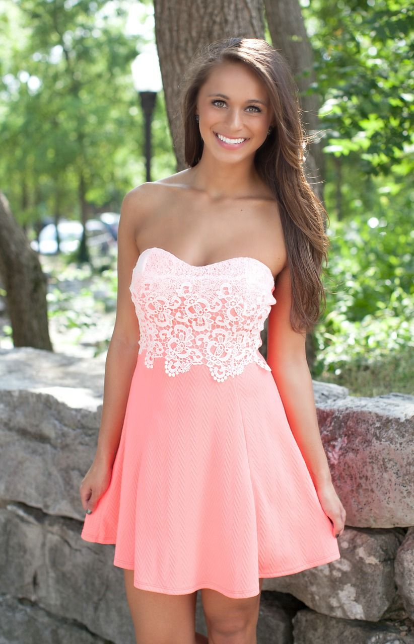 The Pink Lily Boutique - Light Up The World Neon Coral Dress ...