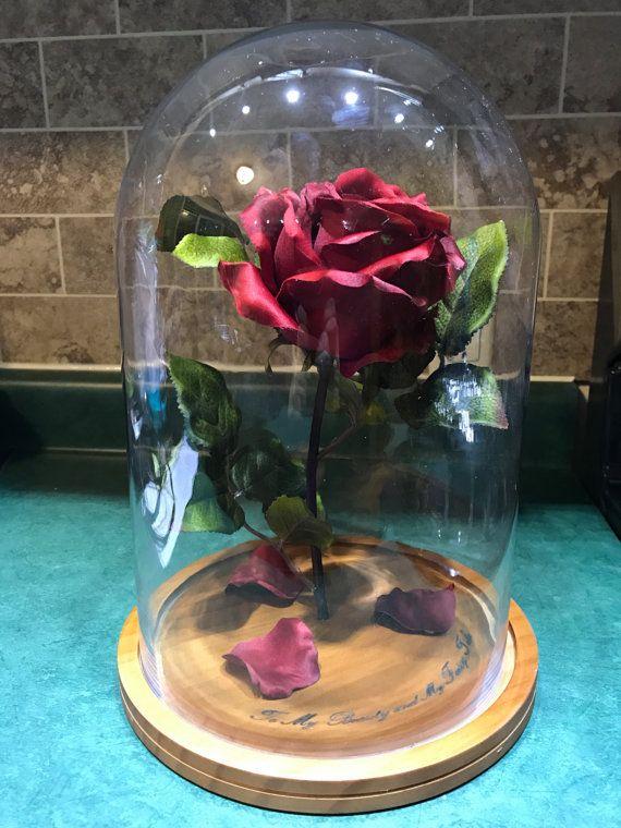 Engraved Beauty And The Beast Rose Large Geldgeschenke