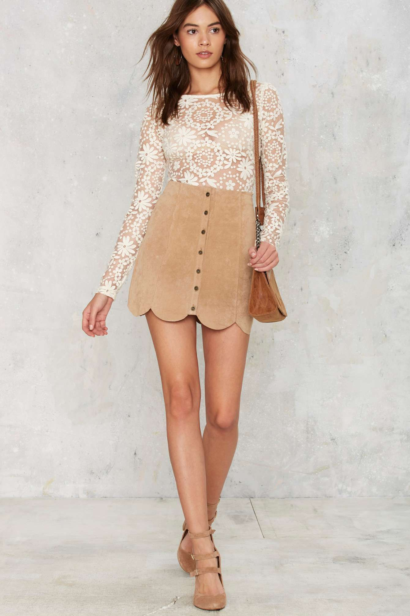 Lace bodysuit looks  Dawn of a New Daisy Lace Bodysuit  Shop Clothes at Nasty Gal
