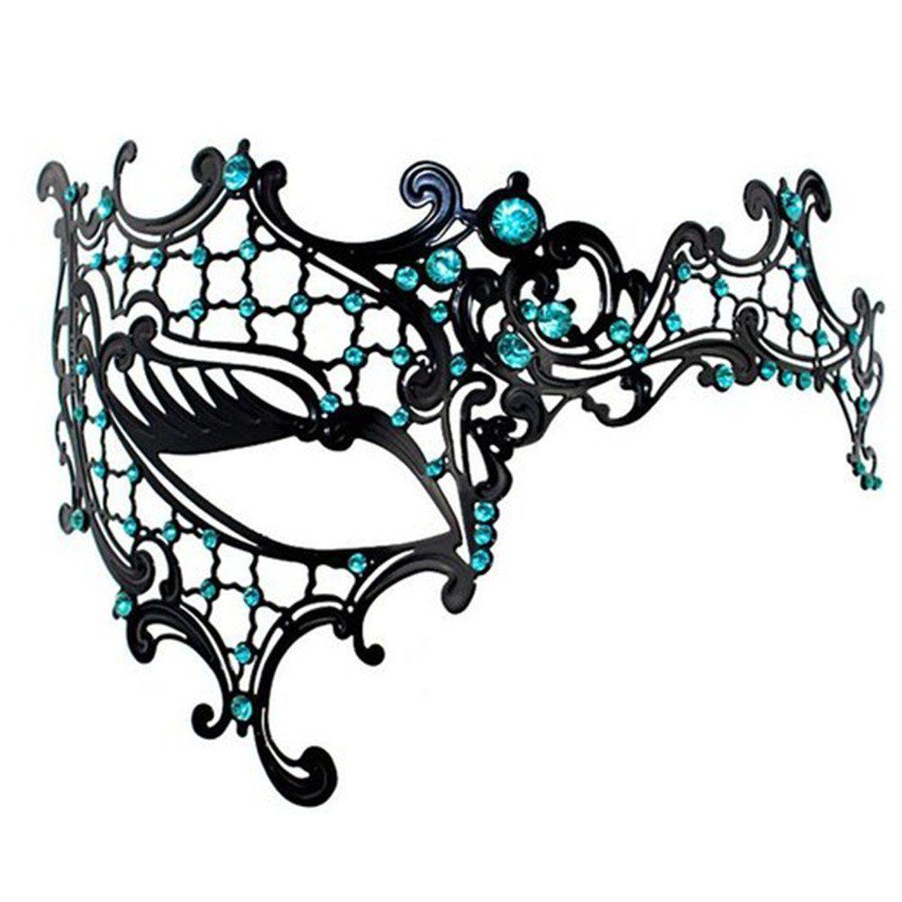 luxury metal mask phantom of the opera venetian half face mask with