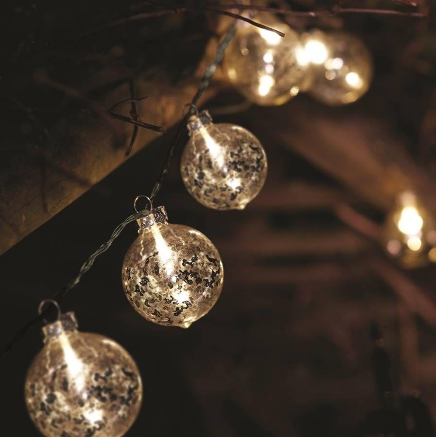 glass orb lighting. Glass Orb String Lights In Silver Lighting