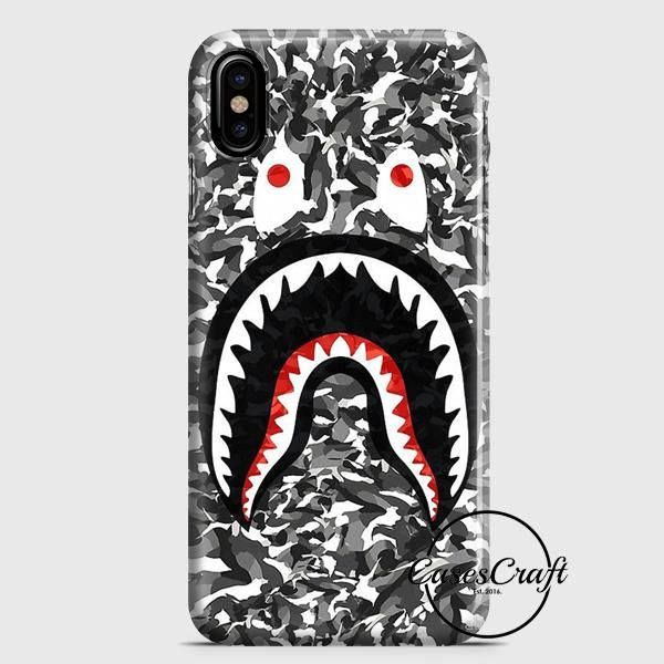 on sale 3fa50 f2da6 Bape Camo Black iPhone X Case | casescraft | Things to wear | Black ...