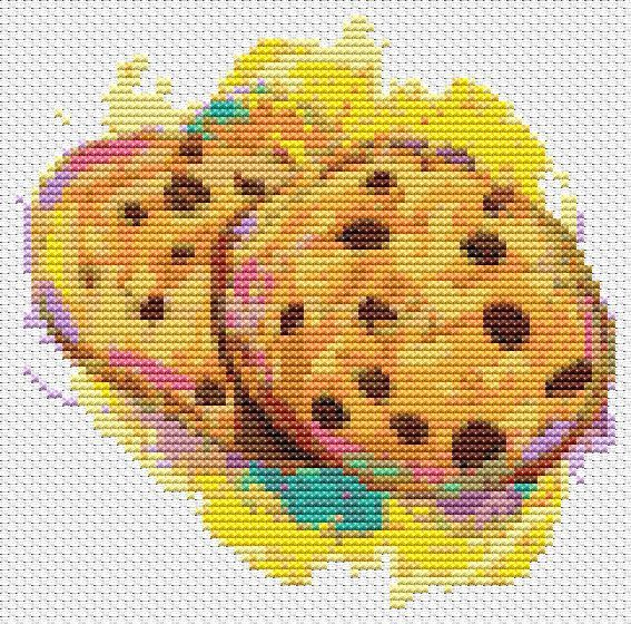 Kitchen Series: Chocolate Chip Cookies - Mini Cross Stitch CHART