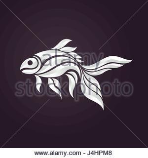 Goldfish Logo Vector Icon Illustrator Stock Photo Goldfish Goldfish Types Veiltail Goldfish