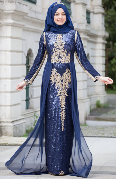 af9258e966a4e Tesettür Nişanlık Modelleri 2019 - Tesettür Abiye Elbise Modelleri ...