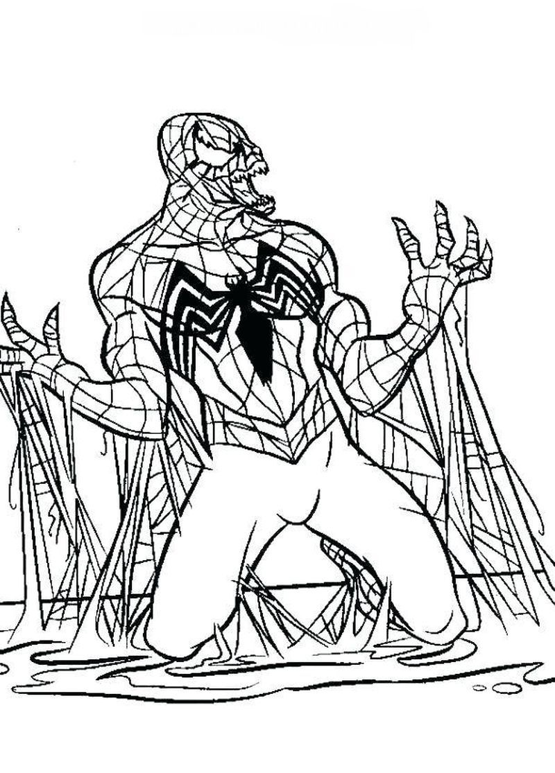 Venom Coloring Pages Free Spiderman Coloring Black Spiderman Avengers Coloring Pages
