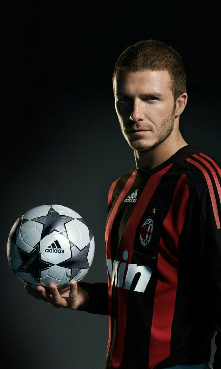 David Beckham Ac Milan David Beckham Football Beckham Football David Beckham