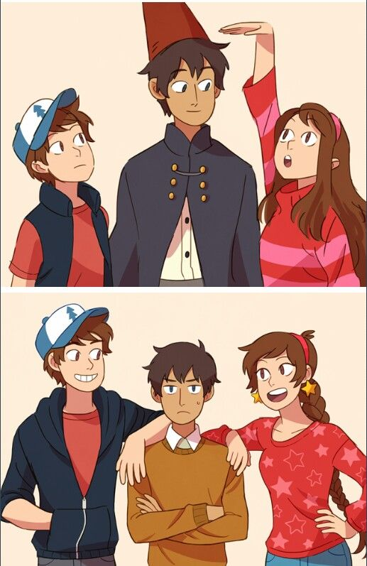 Over The Garden Wall X Gravity Falls Dipper And Mabel And Wirt