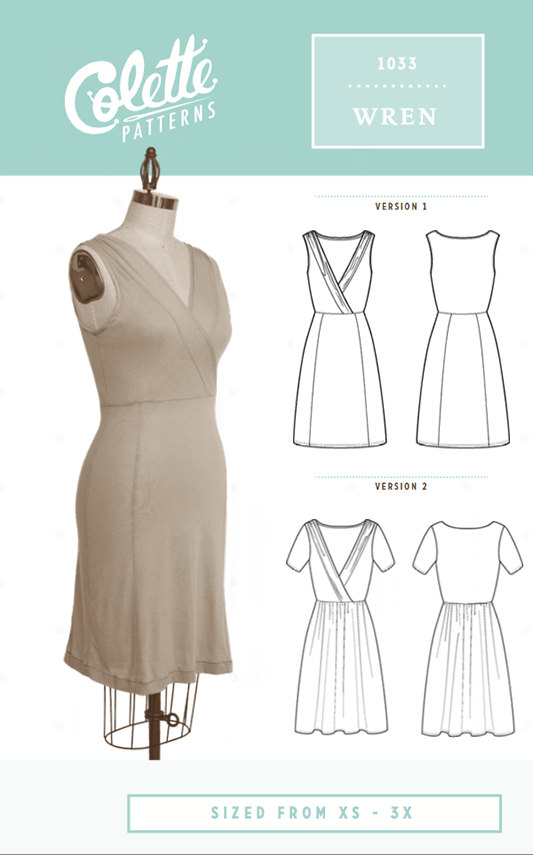 Colette Patterns Wren - Knit Dress Sewing Pattern | Products in 2018 ...
